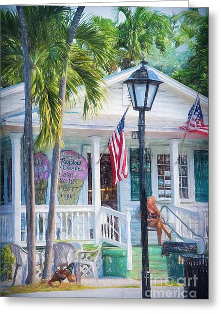 Ice Cream In Key West Greeting Card