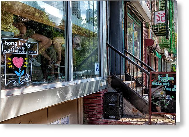 Ice Cream Parlor Chinatown Nyc Greeting Card by Robert Ullmann