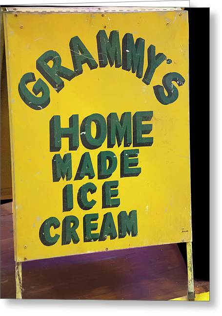 Greeting Card featuring the photograph Ice Cream Sign by Chris Flees