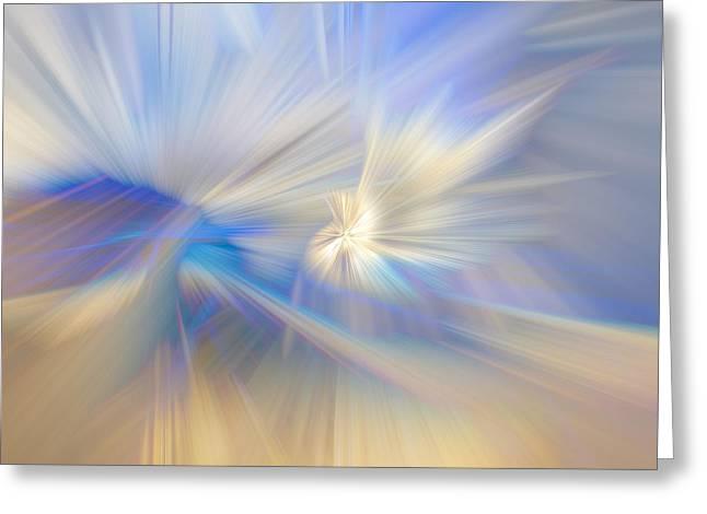 Ice Crystals Greeting Card by Debra and Dave Vanderlaan