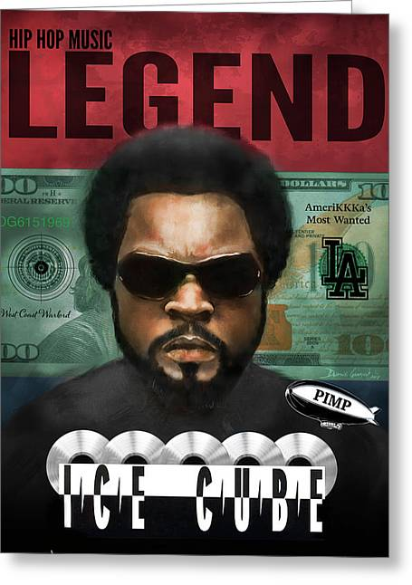 Greeting Card featuring the digital art Ice Cube  by Dwayne Glapion