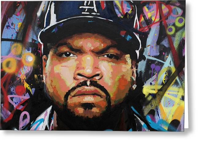 Greeting Card featuring the painting Ice Cube by Richard Day