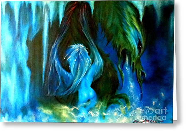 Dance Of The Winged Being Greeting Card