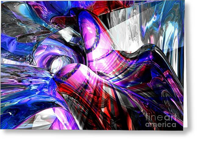 Ice Fairies Abstract Greeting Card by Alexander Butler
