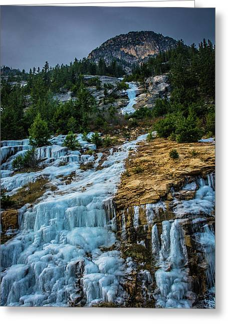 Ice Fall Greeting Card