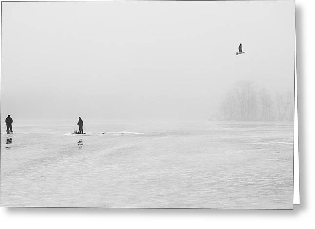 Ice Fishermen Greeting Card
