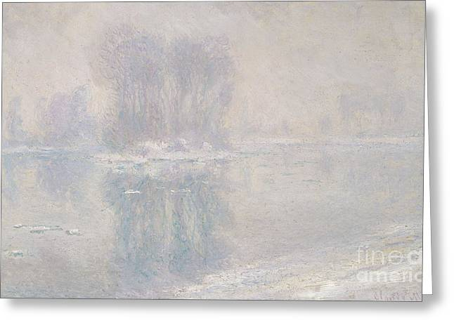Ice Floes, 1893 Greeting Card by Claude Monet