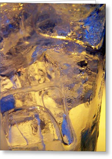 Ice Ice Baby Greeting Card by Vijay Sharon Govender