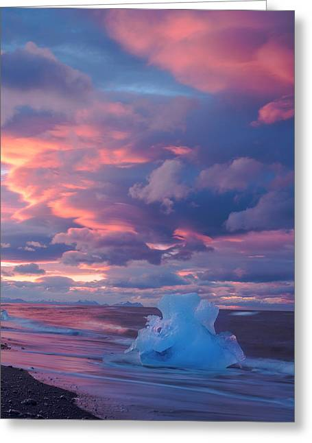 Ice Ignites Greeting Card