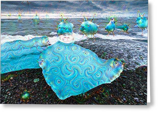 Ice In Iceland Surreal Deep Dream Picture Greeting Card by Matthias Hauser