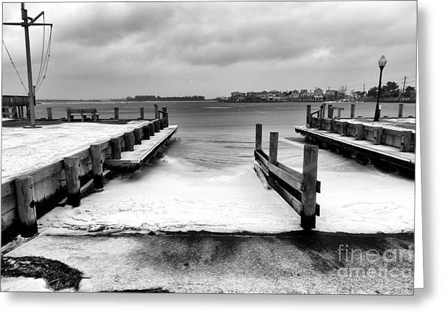 Ice In The Bay Greeting Card