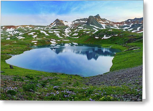 Ice Lake Panorama Greeting Card by Johnny Adolphson