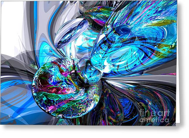 Ice Majesty Abstract Greeting Card by Alexander Butler