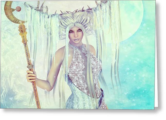 Ice Moon Princess Greeting Card