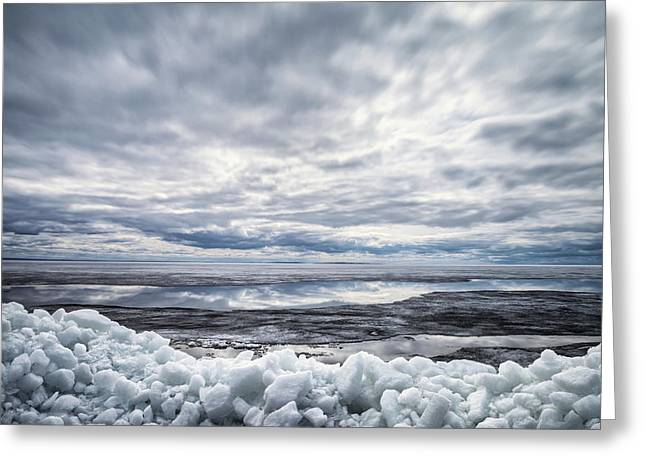 Ice On Lake Nipissing Greeting Card by Brian Boudreau