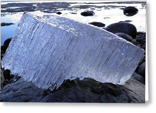 Greeting Card featuring the photograph Ice On Rocks 1 by Sami Tiainen