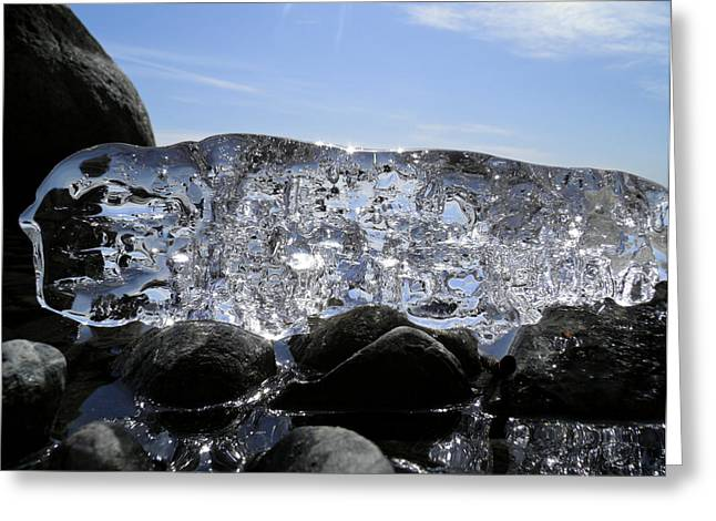 Greeting Card featuring the photograph Ice On Rocks 3 by Sami Tiainen