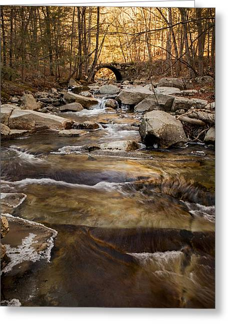 Ice On Stickney Brook Greeting Card
