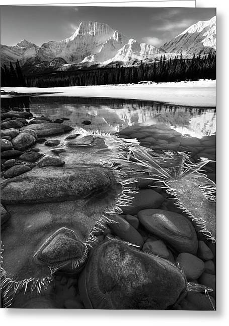 Ice On The Athabasca Greeting Card by Dan Jurak