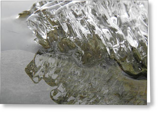 Greeting Card featuring the photograph Ice On Water 1 by Sami Tiainen