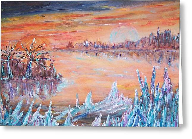 Ice Planet Greeting Card by Mary Sedici