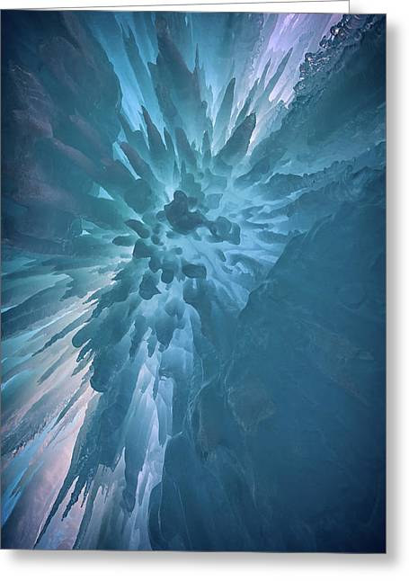 Ice Greeting Card by Rick Berk