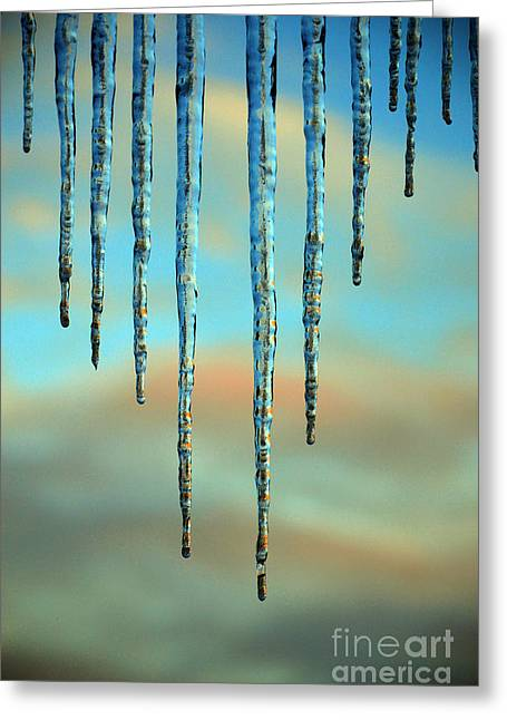Ice Sickles - Winter In Switzerland  Greeting Card