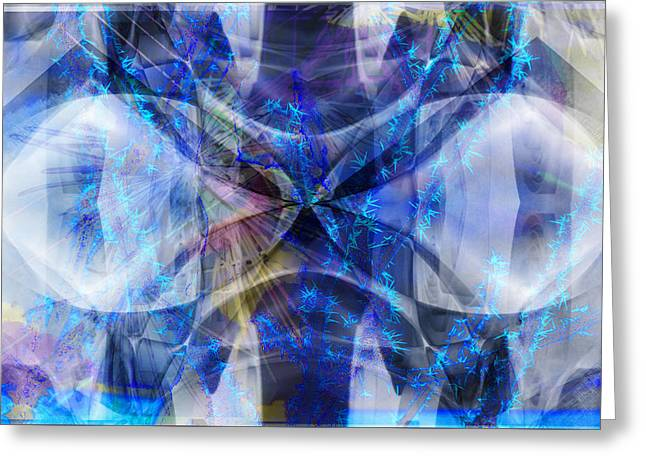 Ice Structure Greeting Card