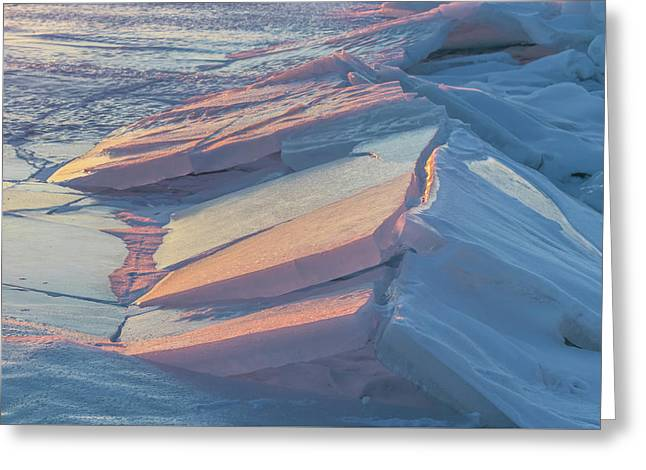 Ice Tectonics Greeting Card