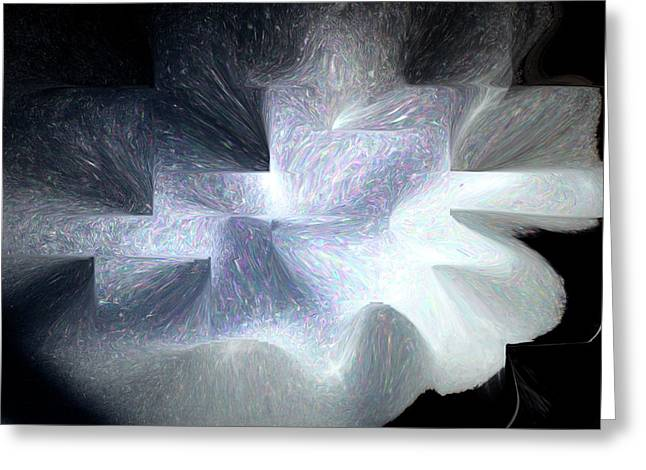 Ice Throne Abstract Greeting Card by Aliceann Carlton