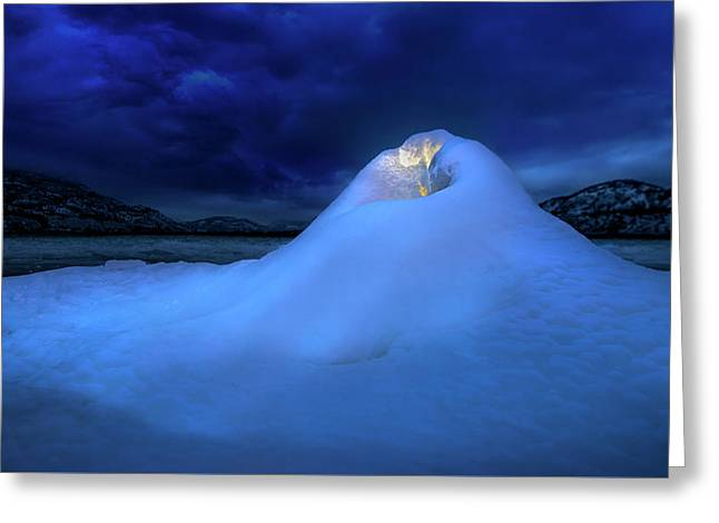 Greeting Card featuring the photograph Ice Volcano by John Poon