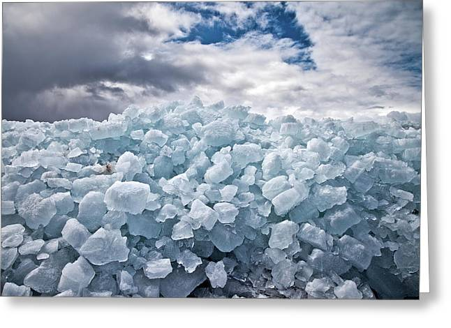 Ice Wall Greeting Card by Brian Boudreau