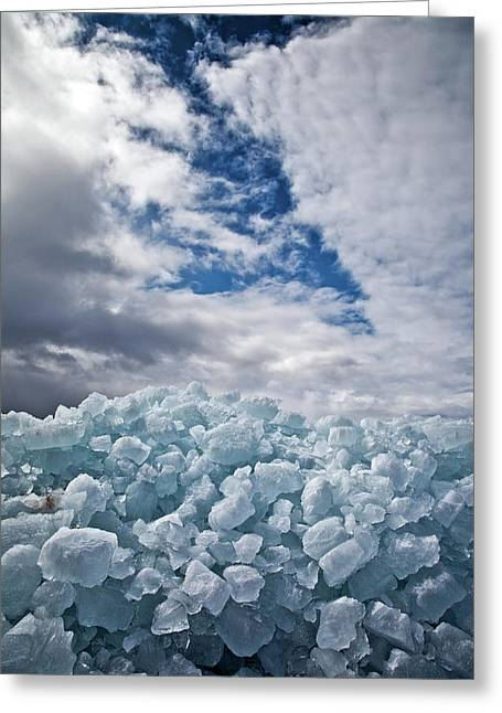 Ice Wall II Greeting Card by Brian Boudreau