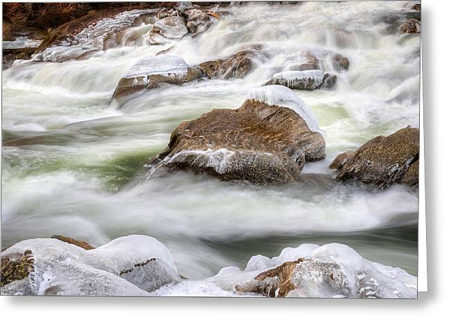 Ice Water Rapids Greeting Card by Bill Wakeley