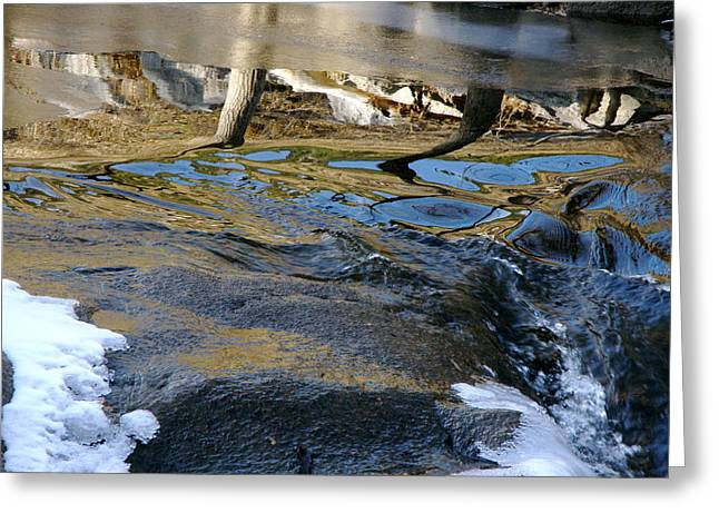 Ice Water Reflection Greeting Card