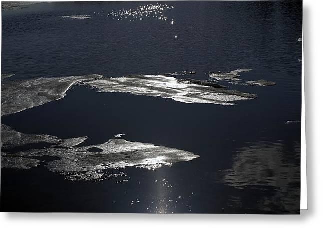 Ice Water Greeting Card by Stan Wojtaszek