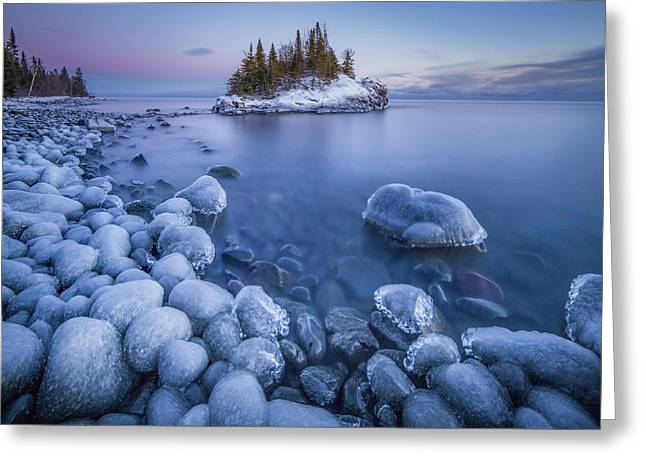 Ice World // North Shore, Lake Superior  Greeting Card
