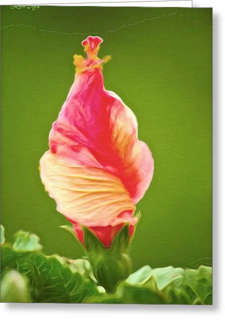 Icea Cream Flower - Da Greeting Card by Leonardo Digenio