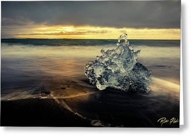 Greeting Card featuring the photograph Iceberg At Dawn by Rikk Flohr