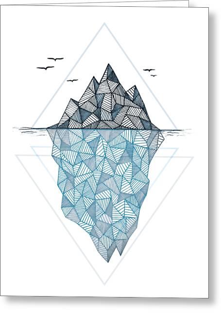 Iceberg Greeting Card by Barlena