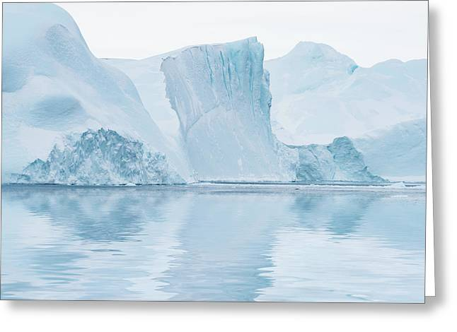 Iceberg In Disko Bay Greenland Greeting Card by Janet Burdon