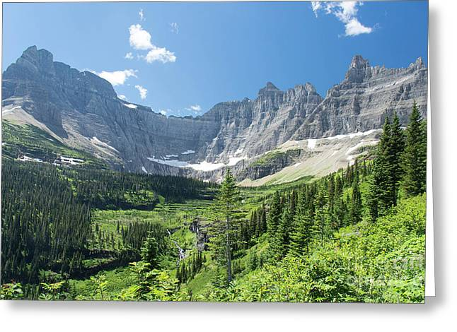 Iceberg Lake Trail - Glacier National Park Greeting Card