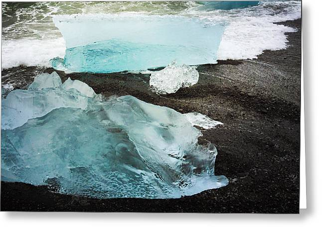 Iceberg Pieces Jokulsarlon Iceland Greeting Card