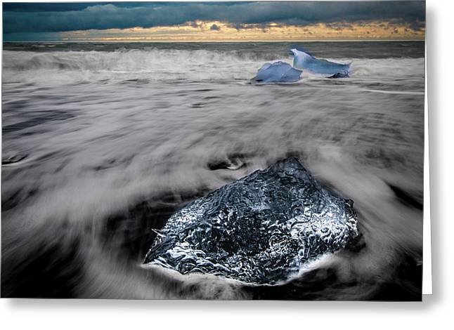 Greeting Card featuring the photograph Iceberg Remnant by Rikk Flohr