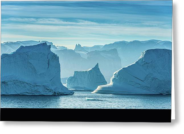 Iceberg View - Greenland Travel Photograph Greeting Card by Duane Miller