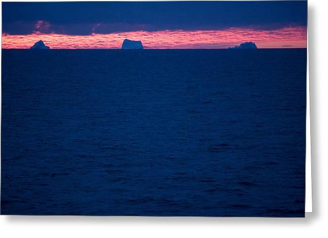 Nunavut Greeting Cards - Icebergs On The Distant Horizon Greeting Card by Pete Ryan