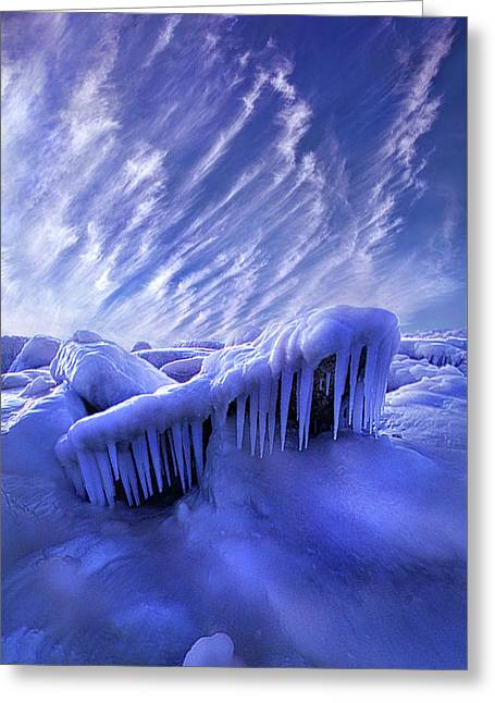 Iced Blue Greeting Card by Phil Koch