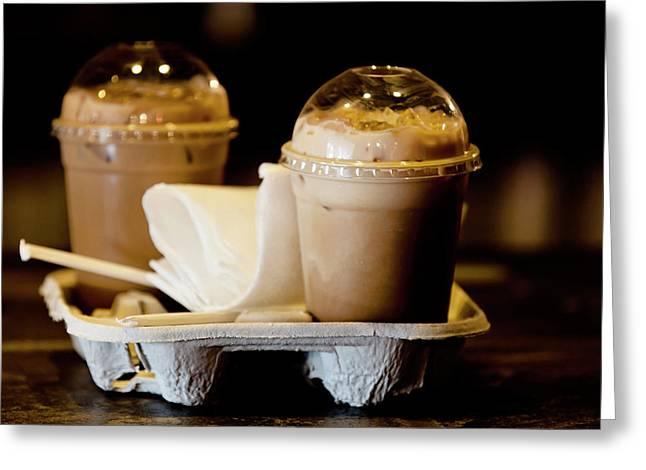 Iced Caramel Coffee Greeting Card