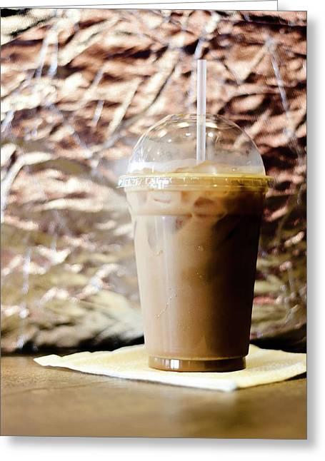 Iced Coffee 2 Greeting Card