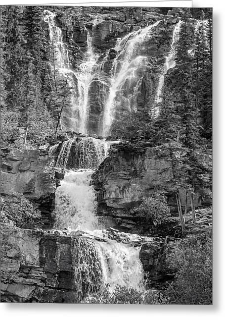 Icefields Waterfall Greeting Card